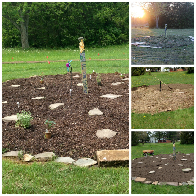 Progress with the medicine wheel garden...